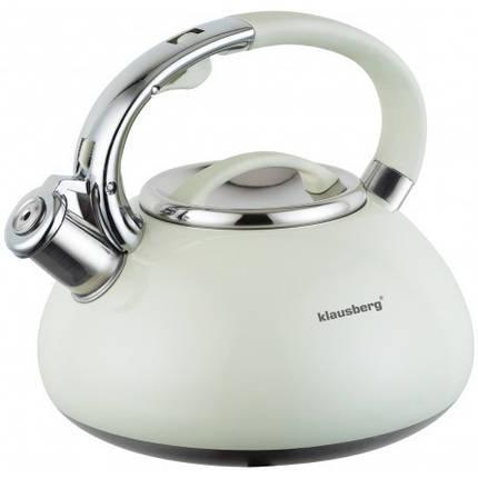 Чайник 3,0л со свистком Klausberg KB7076 Цельнолитой, фото 2