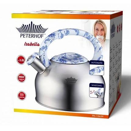 Чайник со свистком Peterhof 3,0л PH15639, фото 2