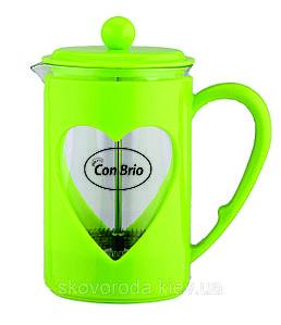 Френч-пресс Con Brio 600мл 5660 зеленый