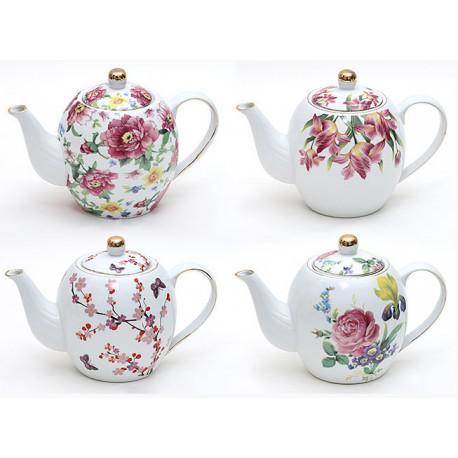 """Чайник заварочный 1.2л фарфор """"Цветы"""""""
