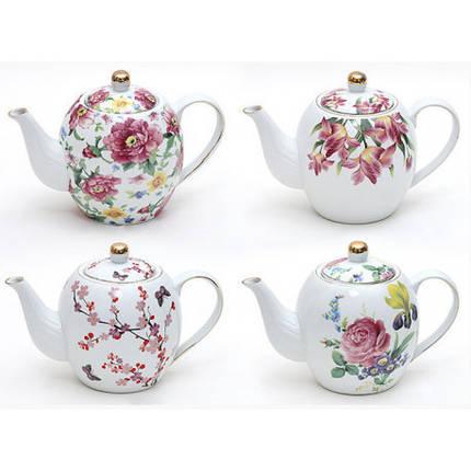 """Чайник заварочный 1.2л фарфор """"Цветы"""", фото 2"""