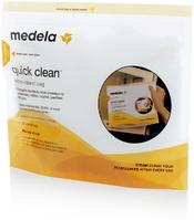 Пакеты Medela для паровой стерилизации бутылочек в микроволновой печи. 5 шт. (Quick Clean Microwave Bags)