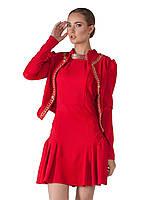 """Женское Платье В Красном Цвете с жакетом """"Диалог"""" Scandal Sonya (Соня Скандал)"""