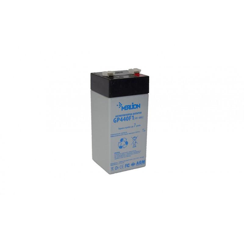 Аккумуляторная батарея 4V 4Ah MERLION ( 47 x 47 x 100 (105 ) Q30