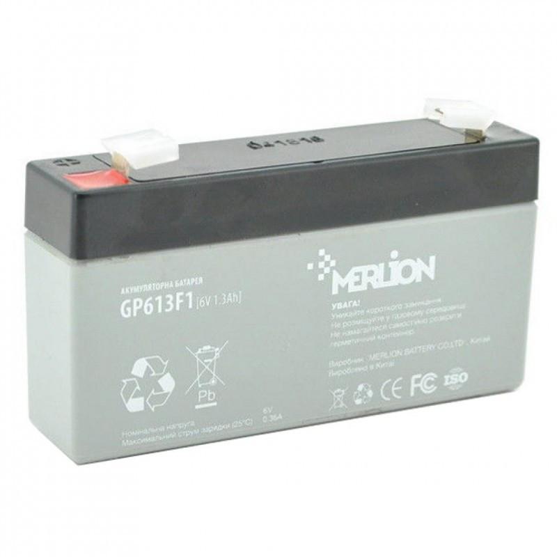 Аккумуляторная батарея 6V 1,3Ah MERLION ( 95 x 25 x 50 (55) Q40
