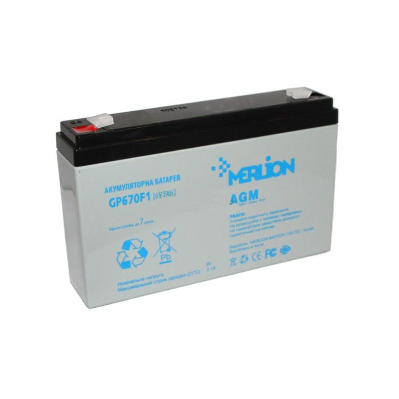 Аккумуляторная батарея 6V 7Ah MERLION ( 150 x 35 x 95 (100 ) ) Q10