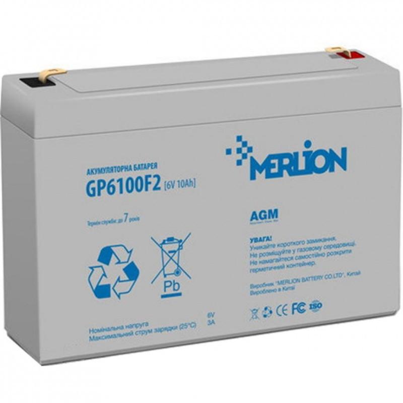 Аккумуляторная батарея 6V 10Ah MERLION ( 150 x 50 x 95 (100) ) Q10