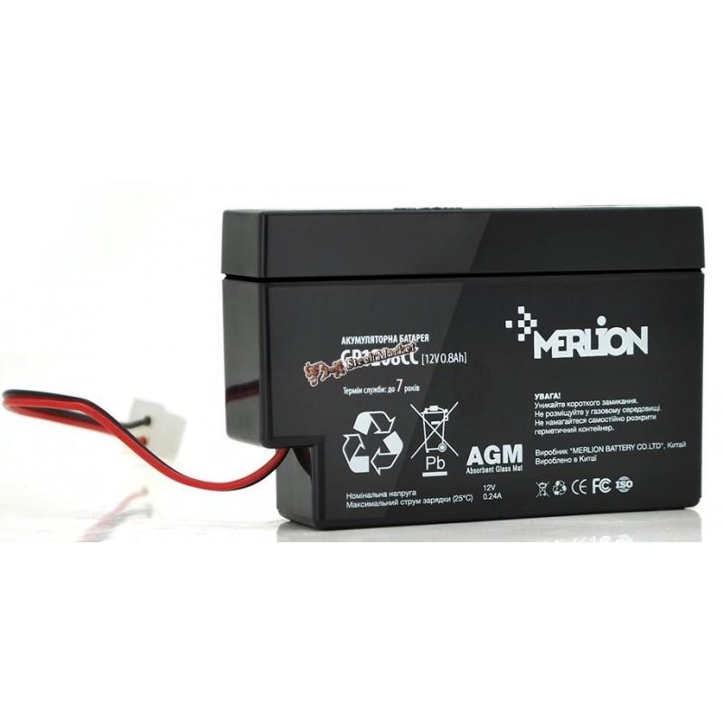 Аккумуляторная батарея 12V 0,8Ah MERLION ( 95 х 23 х 60 ) Q20