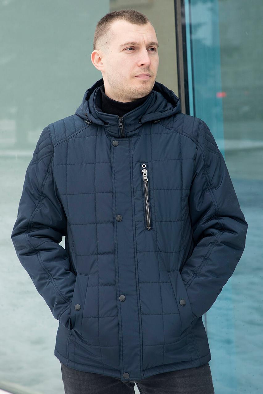 Куртка мужская демисезонная стеганная с капюшоном с 50 по 58 размер