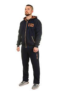 Мужской теплый костюм со вставками из замша с 50 по 56 размер