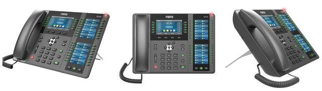 IP-телефон з 3 кольоровими екранами Fanvil X210