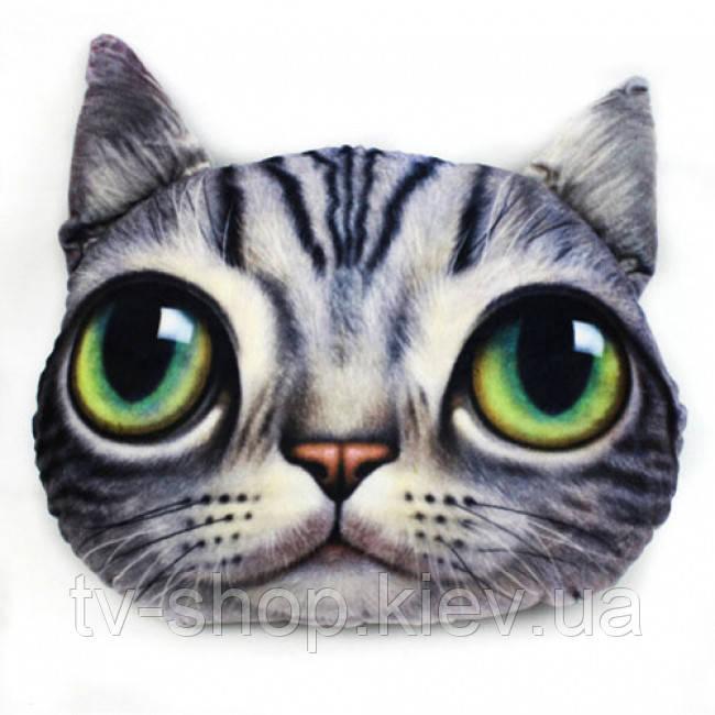 Мягкая  подушка-антистресс Кот глазастый (в ассортим)