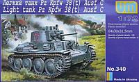 1:72 Сборная модель танка Pz.Kpfw.38 (t) Ausf. C, Unimodels 340;[UA]:1:72 Сборная модель танка Pz.Kpfw.38 (t)