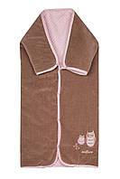 Многофункциональный Конверт-одеяло, 3 в 1, Womar Original (Польша) розово-коричневый