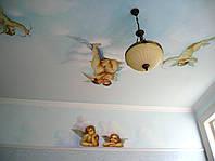 """Художественная роспись потолка маслом """"Комната Ангелов"""""""