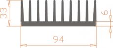 Алюминиевый радиатор 94*33 / БП