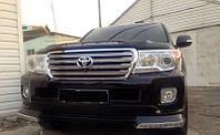 Докладка переднего бампера Toyota Land Cruiser 200 Platinum Edition