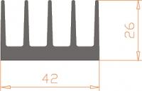 Алюминиевый радиатор 42*26  / БП