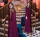 """Вечернее длинное платье до больших размеров 15140 """"Кокетка Рукава Сетка"""" в расцветках, фото 10"""