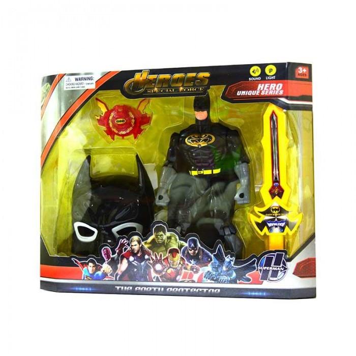 Набор супергероя 8816A-7 BM, маска, супергерой31см, звук, свет, оружие, бат (табл), кор, 44-35-8,5см