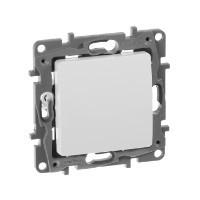 Выключатель одноклавишный - Etika - 10 AX - 250 В~ - белый
