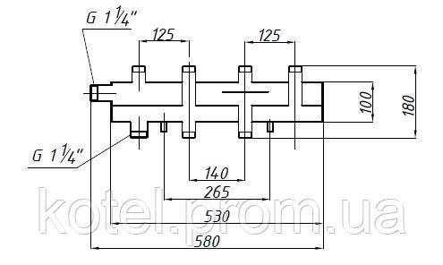 Схема и размеры коллектора СК 292.125