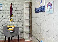Полка напольная стеллаж «Сидней» цвет Аляска + Сонома Трюфель