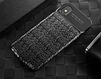 Чехол-аккумулятор Baseus Plaid для iPhone X / Xs 3600mAh черный (ACAPIPHX-BJ)