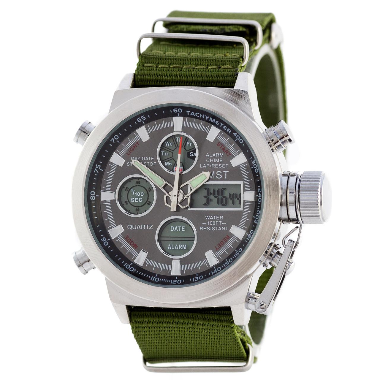 Мужские наручные часы AMST AM3003 Green/Silver/Black