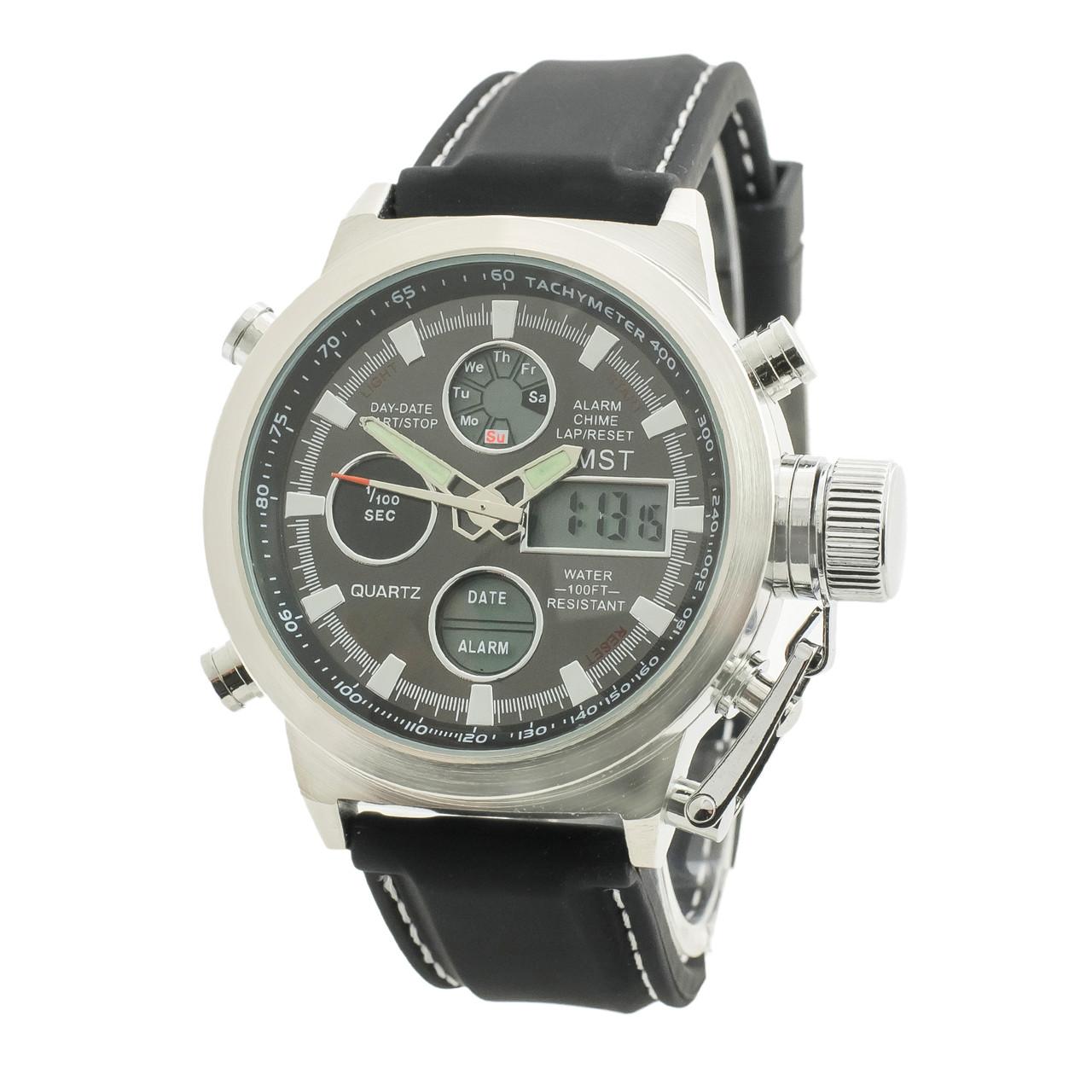 Мужские наручные часы AMST AM3003 Black/Silver/Black