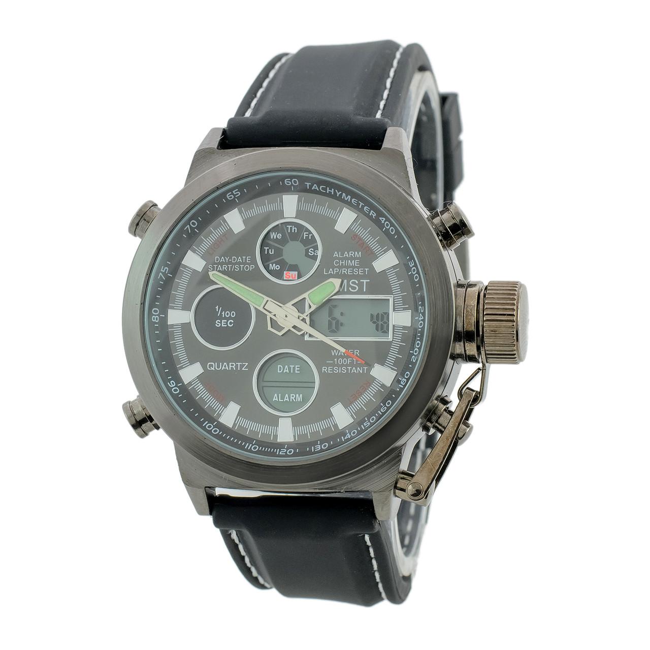 Мужские наручные часы AMST AM3003 Fluted Wristband Black