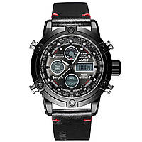 Мужские наручные часы AMST 3022 Smooth Wristband All Black 3