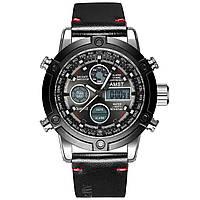 Мужские наручные часы AMST 3022 Smooth Wristband Silver-Black 7
