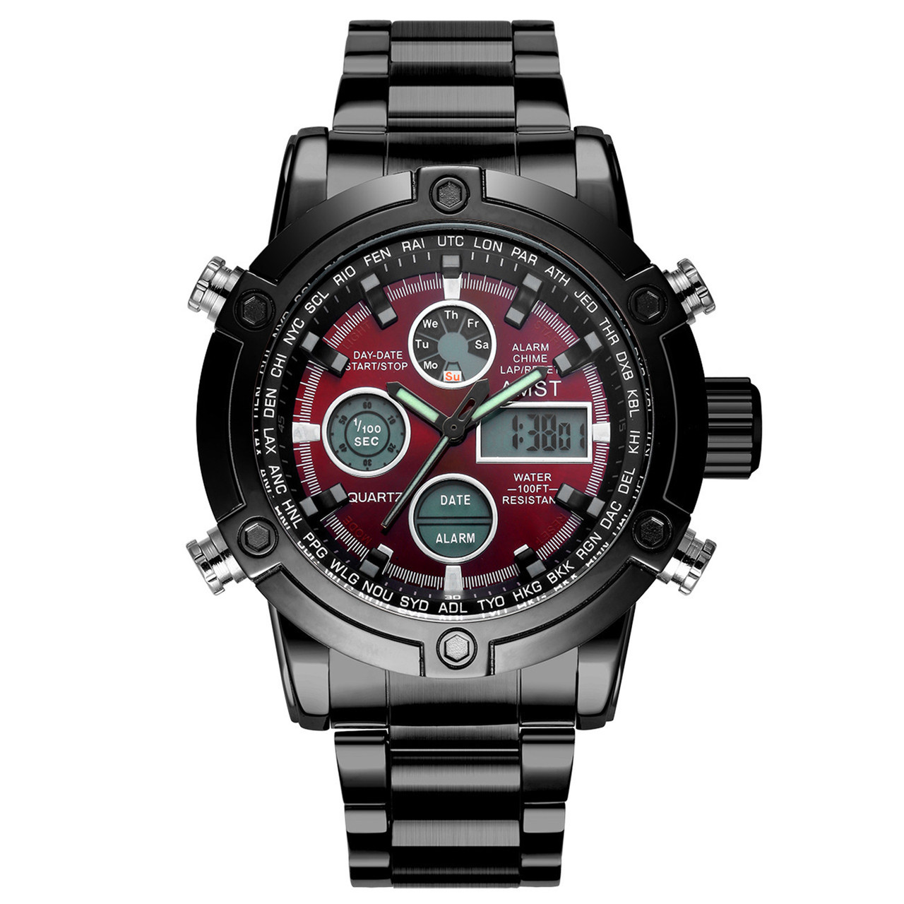 Мужские наручные часы AMST 3022 Metall Black-Red
