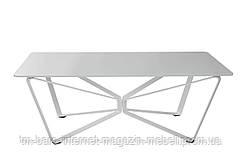 Стол журнальный LUTON R (125*70*44см) белый, Nicolas