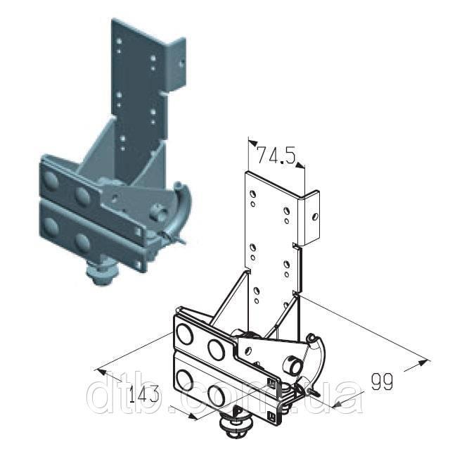 Кронштейн роликовый нижний Alutech RBI-40.110