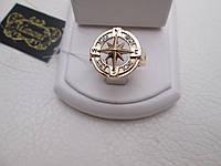 """Золотое мужское кольцо """"Роза ветров"""" - кольцо с мужским характером, фото 1"""