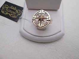 """Золотое мужское кольцо """"Роза ветров"""" - кольцо с мужским характером"""
