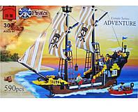 Конструктор BRICK пиратский корабль - отличный подарок для мальчика