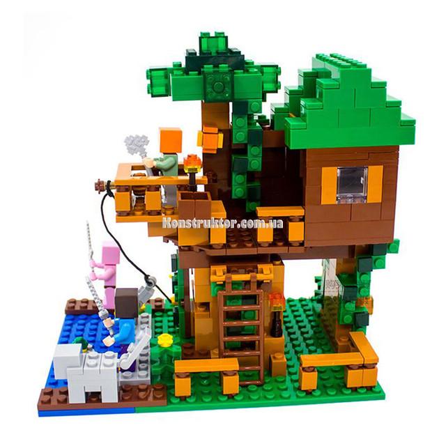 """Конструктор Lepin Minecraft 18009 """"Домик у реки"""" купить"""