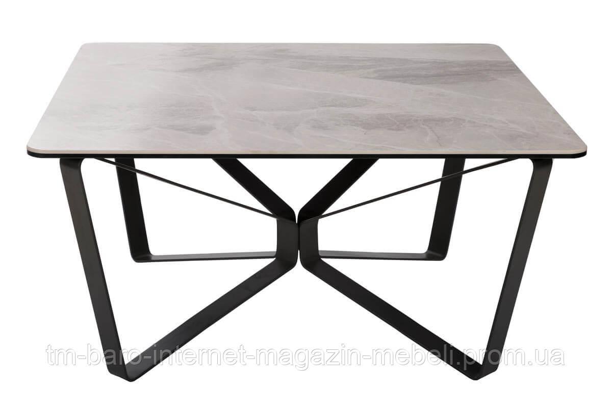 Стол журнальный Luton S (Лутон S) 89.5х89.5х45, керамика светло-серый (Бесплатная доставка), Nicolas