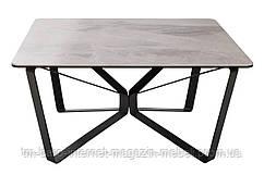 Стол журнальный LUTON S (89.5*89.5*45см) керамика светло-серый, Nicolas