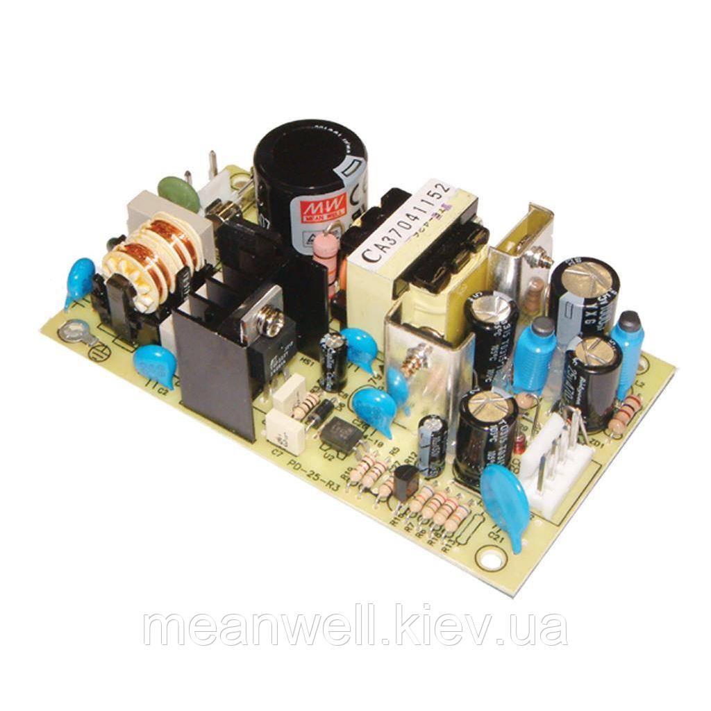 PD-2505 Блок питания Mean Well Открытого типа 25 Вт, 5В/2.5А, -5В/2.5А (AC/DC Преобразователь)