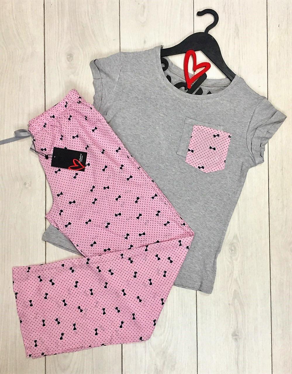 Пижама штаны и футболка вискоза+штапель.