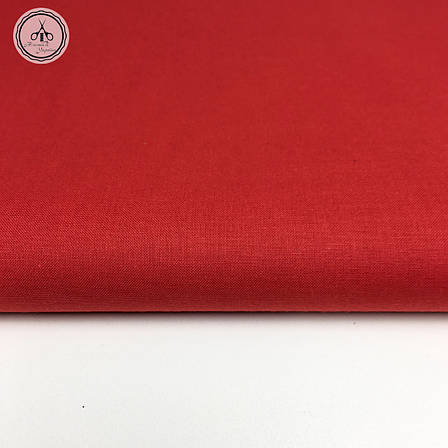 Польская хлопковая ткань красная 160 см, фото 2