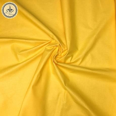 Польская хлопковая ткань жёлтая 160 см, фото 2