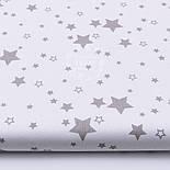 """Лоскут ткани """"Мини галактика"""" серая на белом фоне № 1460, размер 33*70 см   см, фото 2"""