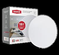 Светодиодный светильник потолочный Maxus 18W 4100K (тонкий дизайн, IP40)