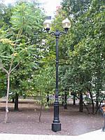 """Опора освещения парковая """"Венеция"""" литая под старину с LED светильником"""