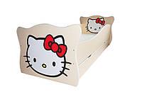 Детская кровать Hello Kitty серия Animal 70*140, без ящика